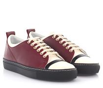 Sneaker SKPK Leder bordeaux weiß Lackleder weiß