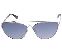 Sonnenbrille Cat-Eye 563 Metall gold