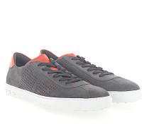 Sneaker 0X990 Veloursleder Lochmuster orange