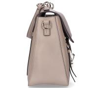 Handtasche FAYE M Kalbsleder Veloursleder Logo