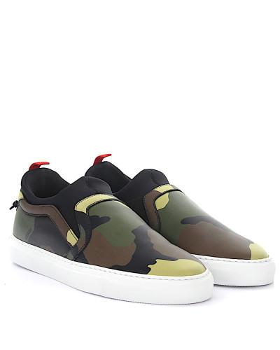 Sneaker Slip On Leder Camouflage