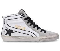 Sneaker high 595 SLIDE Kalbsleder Used grau