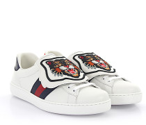 Ace Sneaker MIRO Leder weiss abnehmbare Stickerei