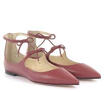 Ballerinas Kalbsleder Ziegenleder Schleife rosé