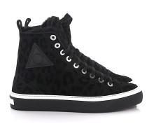 Sneaker BORIS Lammfell Leo Print -kombi