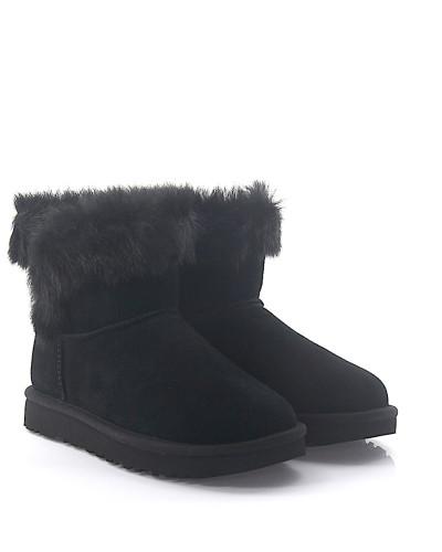 Stiefeletten Boots MILLA Veloursleder Lammfell