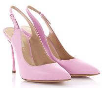 Slingpumps Leder rosa
