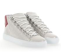 Sneaker high ARENA Lammleder Crinkled rot weiß