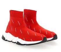 Sneaker Slip-On Baumwollmischung Logo Print schwarz