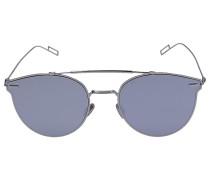 Sonnenbrille Cat Eye PRESSU Metall silber
