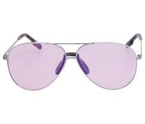 Sonnenbrille Aviator 40012I 18C Metal silber