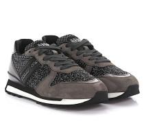 Sneaker Running R261 Veloursleder glitzer