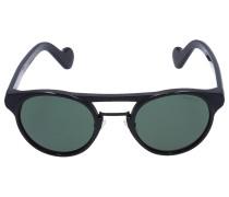 Sonnenbrille Round 019 Acetat schwarz