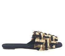 Pantoletten 112875 Textil Geflochten