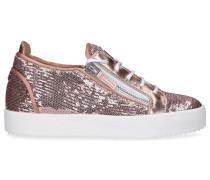 Sneaker low MAY LOND Pailletten altrosa
