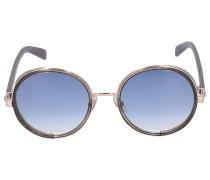 Sonnenbrille Round ANDIE Metall grau