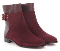 Stiefeletten Boots Major Flat Veloursleder bordeaux