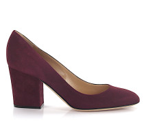 Pumps Kalbsleder Veloursleder bordeaux