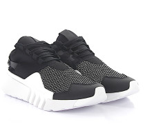 Sneaker AYERO High Stoff schwarz weiss Mesh