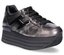Sneaker H283 Kalbsleder Lackleder Used schwarz