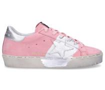 Sneaker low HI STAR Nubukleder Logo rosa