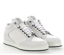 Sneaker MIAMI Leder Stoff weiss