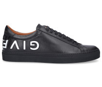 Sneaker low URBAN STREET Kalbsleder Logo weiß