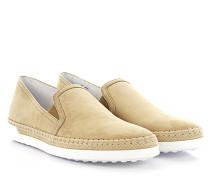 Sneakers Slip On Nubukleder Bast