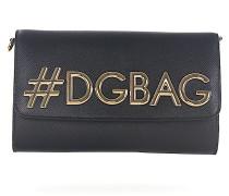 Schultertasche Clutch Leder geprägt #DG Logo gold
