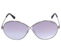 Sonnenbrille Oversize 564 Acetat Metall silber