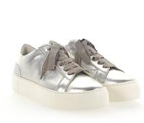 Sneaker D925012 Glattleder Metallisch Perlen silber
