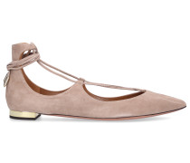 Sling-Ballerinas CHRISTY Veloursleder camel