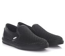 Sneaker Slip On Grove Satin Leder Gummi