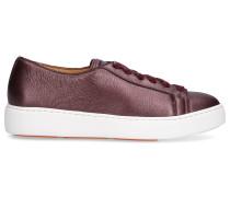 Sneaker low 60442 Kalbsleder Logo bordeaux