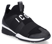 Sneaker low ICON Neopren Nubukleder Logo weiß