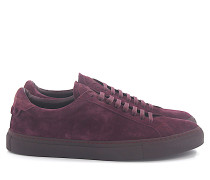 Sneaker Low Veloursleder bordeaux