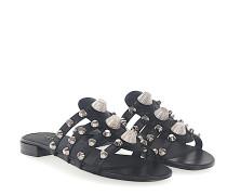 Sandalen Kalbsleder Nieten silber