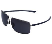 Sonnenbrille Rectangular 8615 Acetat blau