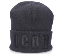 Beanie KNIT ICON Baumwolle Logo Stickerei
