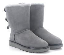 Stiefeletten Boots BAILEY BOW 2 Veloursleder hell Lammfell