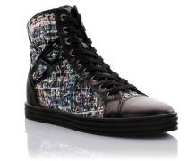 Sneaker High Stoff Leder