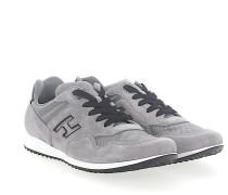 Sneaker H205 Veloursleder Logo hell