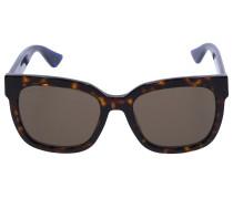 Sonnenbrille Square 34S Acetat Schildkröte Blau