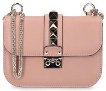 Handtasche B0312 Kalbsleder Nieten Gold Logo rosé