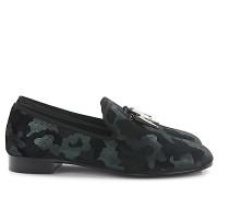 Loafer Samt Textil camouflage schwarz
