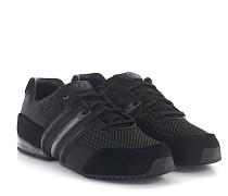 Sneaker Sprint Veloursleder schwarz Stoff grau Yohji
