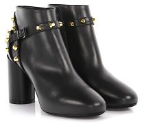 Ankle Boots Classic Booties Tronc Leder Nieten gold