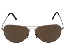 Sonnenbrille Aviator 8508 Metall gold