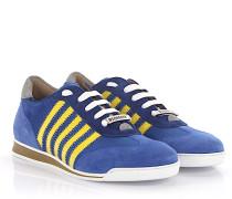 Sneaker New Runner Veloursleder blau Nylon gelb