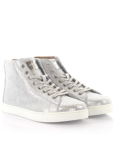 Gianvito Rossi Damen Sneakers High S28230 Leder silber finished Günstig Kaufen 2018 Beliebte Online-Verkauf Günstig Kaufen Manchester Großen Verkauf Billige Eastbay A2AnEWhdma